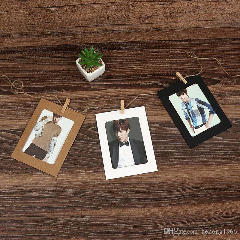 DIY Photo Frame Wooden Clip Paper Picture Holder Wedding Baby Birthday Party Booth Props Decoration With Rope 2 8sy3 V
