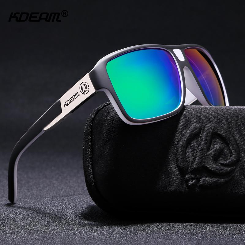 da663bb0d5 KDEAM New Mirror Sunglasses Men Sports Eyewear Women Polarized Big Size Sun  Glasses UV400 Protection With Hard Case KD520 D18101302 Round Sunglasses  Cheap ...