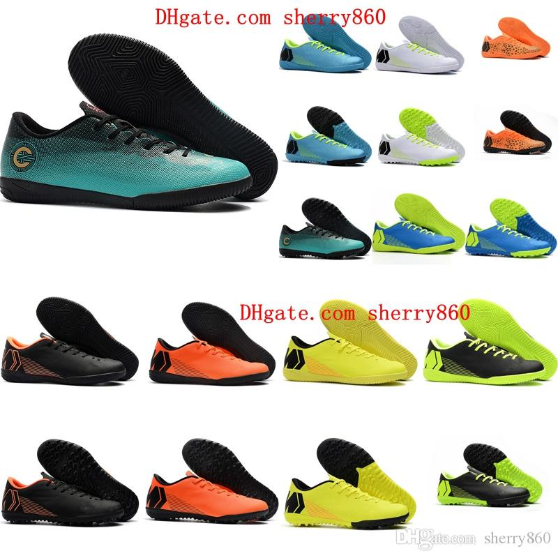 cc3dc374ccc 2019 2018 Indoor Soccer Cleats Low Top Mens Soccer Shoes Mercurial Superfly VAPORX  12CLUB IC TF Football Boots Cr7 Turf Cleats New Arrival From Sherry860