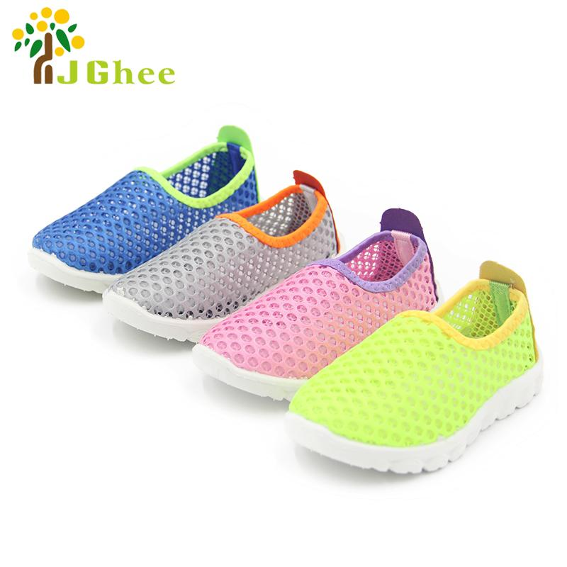 2018 Summer Fashion Kids Shoes Cut-outs Air Mesh Breathable Shoes For Boys Girls Children Sneakers Baby Boy Girl Sandals