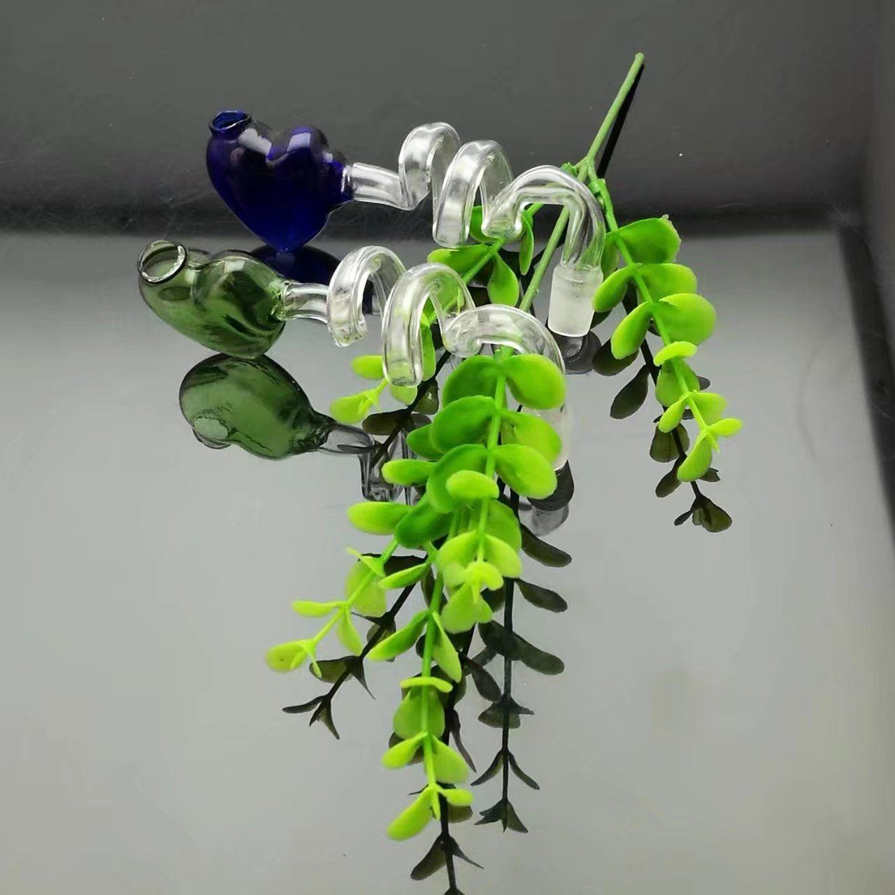 Espiral de color pote de melocotón bongs de cristal al por mayor Tubos de quemador de aceite Tuberías de agua Tubería de vidrio Plataformas de aceite que fuman Envío libre