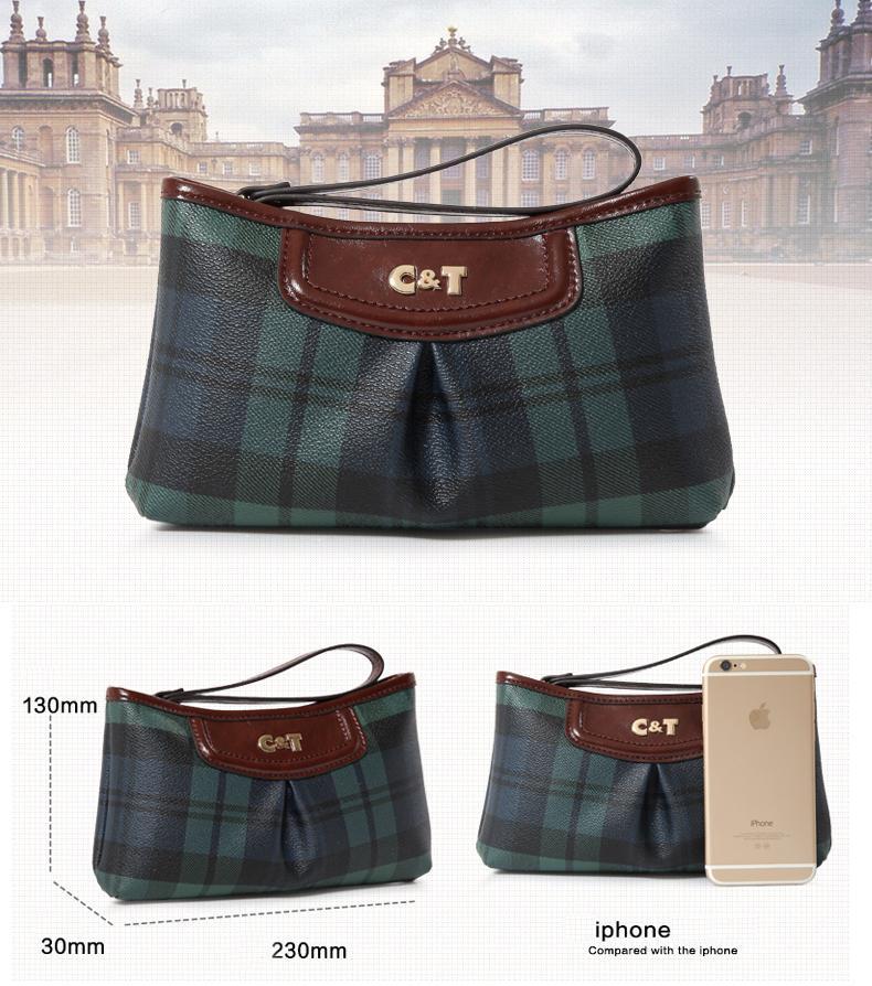 Старый сапожник марки CT Высочайшее качество ручного качества Маленькая сумка с покрытием Tote модная сумка с решетчатым рисунком Сумки для мобильных телефонов
