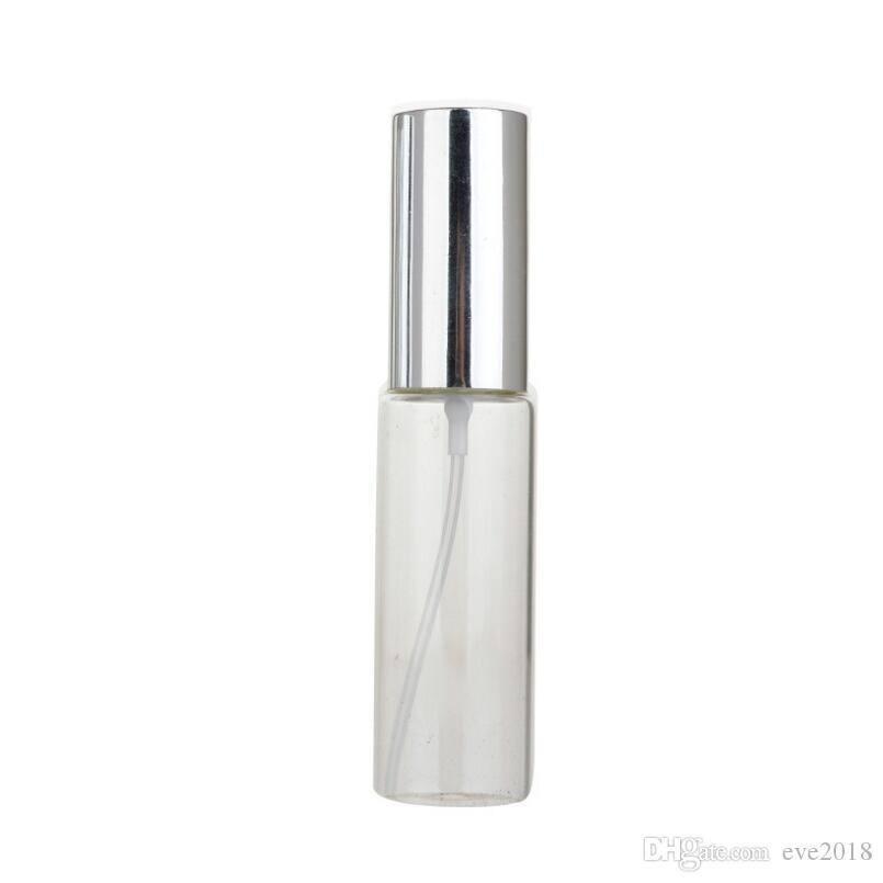 Botella de perfume de cristal portátil clara 30ML con la caja cosmética vacía del atomizador de aluminio para el viajero LX1255