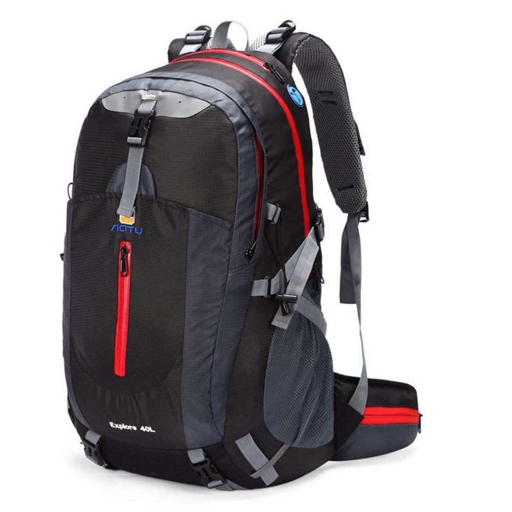 7c94f14f6b42 AUTO 40L Outdoor Mountaineering Bags Water Repellent Polyester Shoulder Bag  Men And Women Travel Hiking Camping Backpack c