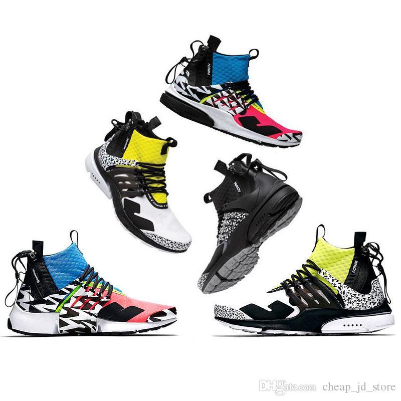 best sneakers 7596a 81d73 Acheter ACRONYM X Nike Air Presto Mid Off White Presto Mid Acronym  Chaussures De Course Hommes Femmes Formateurs Cool Gris Dynamique Jaune  Coureur Rose Hot ...