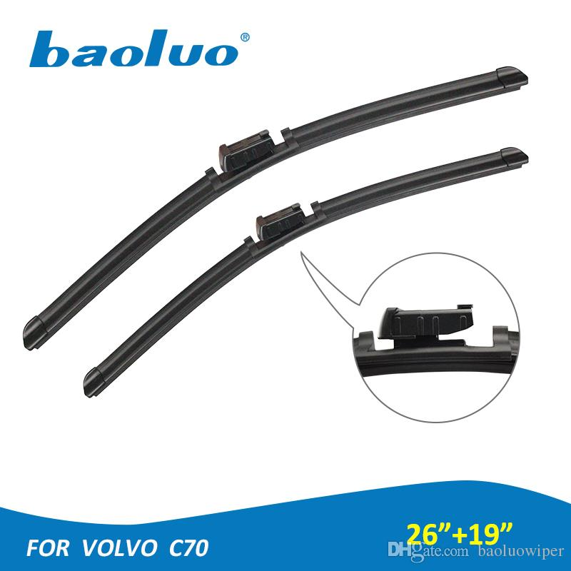 Baoluo 2pcs Windshield Wiper Blades For Volvo C70 26 19 Natural Rubber Windscreen Wipers Auto Parts Car Accessories