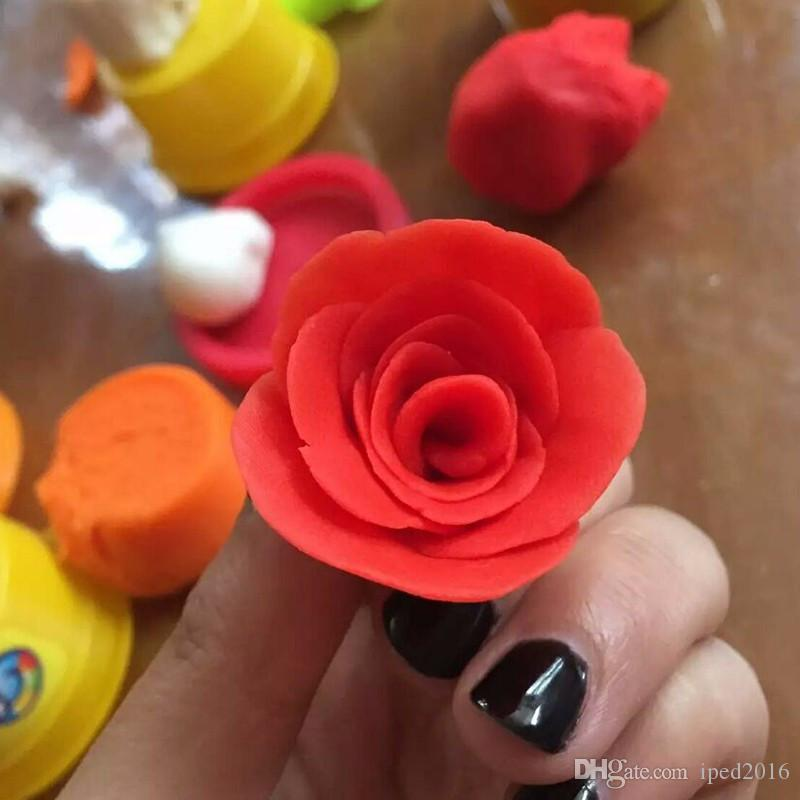 Intelligent Clay Plasticine Clay Playdough With Tool Kit Mud Children's Educational Toys Doh Magic Sand Play Gum