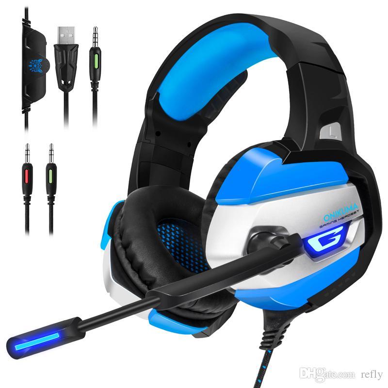 Onikuma K5 35mm Gaming Headphones Best Casque Earphone Headset With