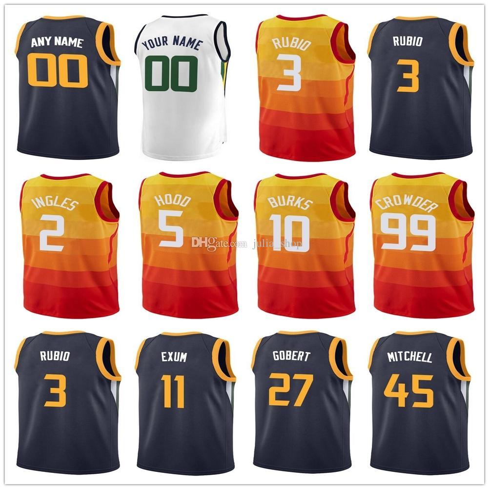 26e64142f cheapest 2018 printed 99 jae crowder jerseys 3 ricky rubio 5 rodney hood 11  dante exum