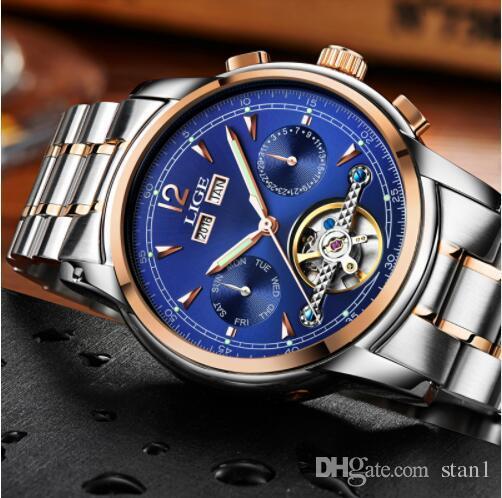 c1f9984b133f Compre Relojes LIGE Masculino Automático Reloj Deportivo Mecánico Hombres  Marca De Lujo Relojes Casuales Relojes De Los Hombres Del Ejército Reloj  Relogio ...