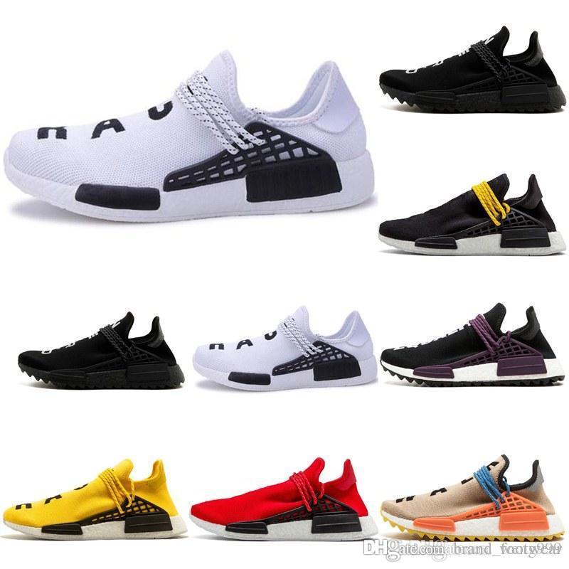 cdcc379017230 Factory Sport Shoes Human Race Running Shoes Pharrell Williams Hu Trail  Cream Core Nerd Equality Holi Nobel Ink Trainers Sneaker Human RACE HU  Sports ...