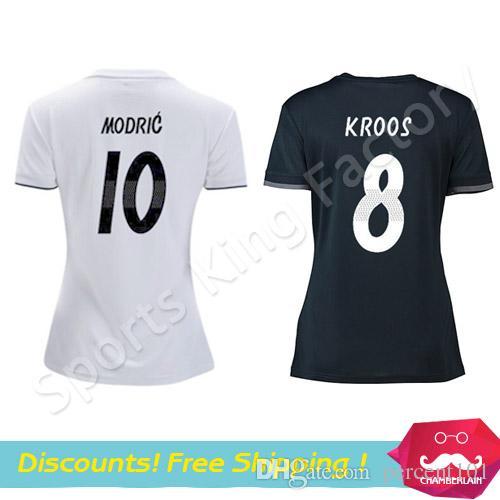 Women Real Madrid Jersey 2019 Camisetas De Futbol Madrid Soccer ... 2d0a372b21b21