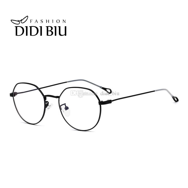 2798b7b1cc 2019 DIDI Fashion Women Retro Round Ultralight Eyeglasses Men Thin Metal Optical  Glasses Frame Italian Eyewear Brands Designer UN973 From Didi biu