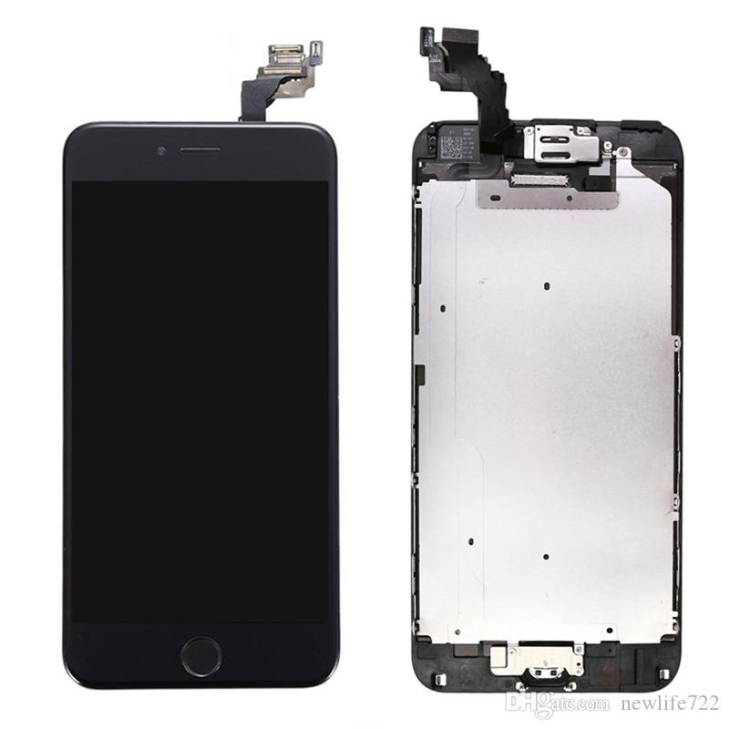 Hot Sale For Iphone 6 Plus Touch Screen Digitizer LCD Display With Front Camera Home Button Completed Screen Assembly 5.5inch Wholesale