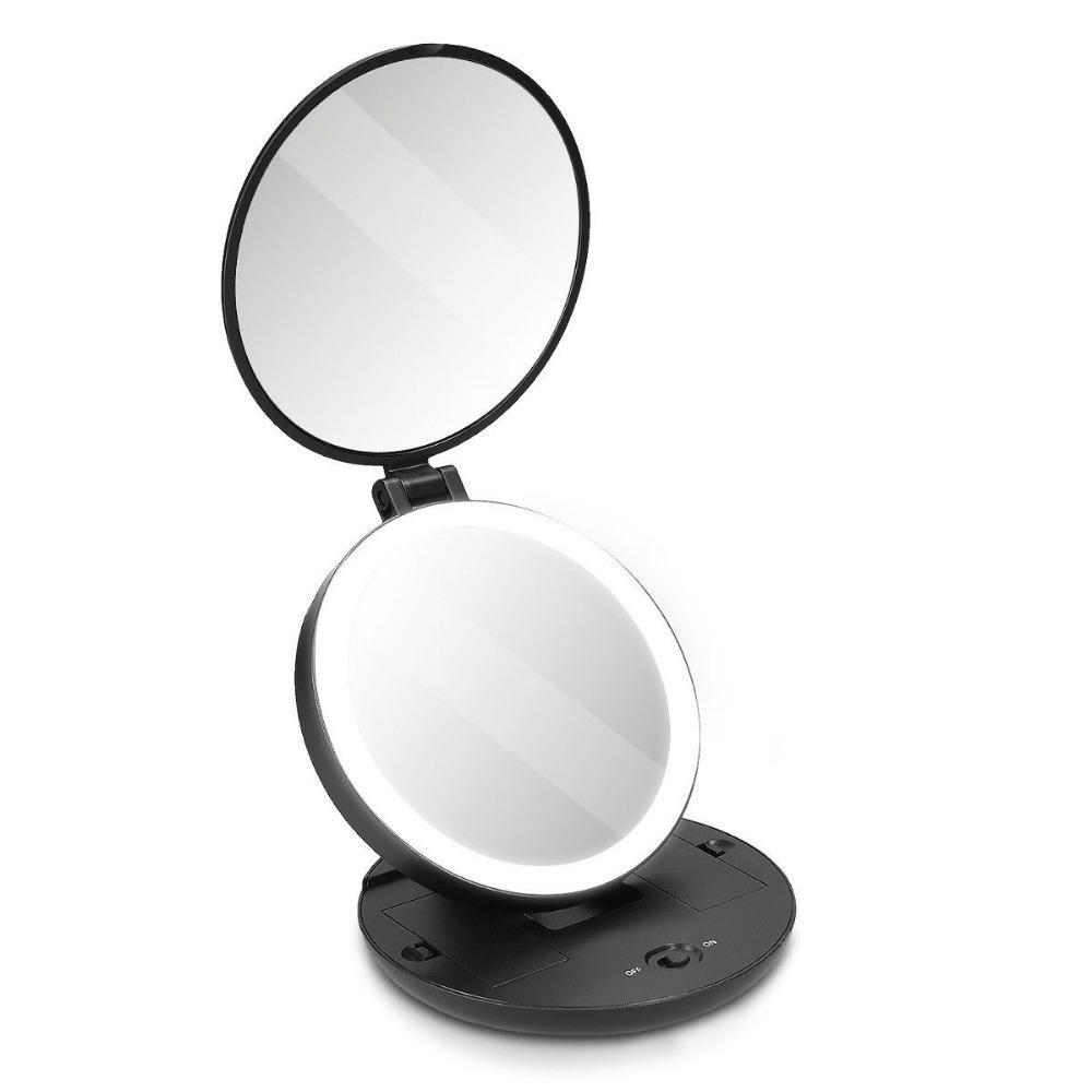 Haut Pflege Werkzeuge SchöN Make-up Stehen Desktop Drehbare Gothic Große Größe Rose Spiegel Schwarz Standing Kosmetik Make-up Spiegel #57701
