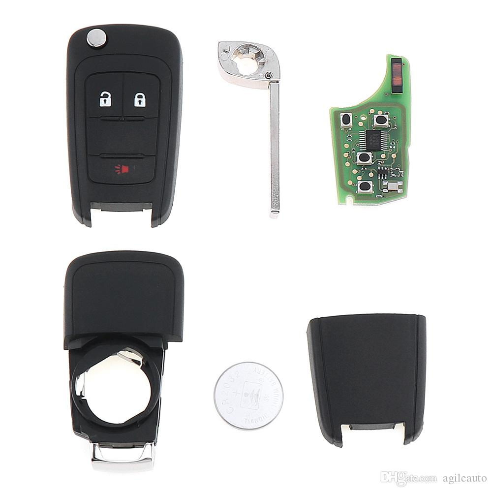 315MHZ 3 Buttons Keyless Entry Remote Key Fob OHT01060512 for Chevy 2010-2017 Equinox Sonic GMC KEY_104