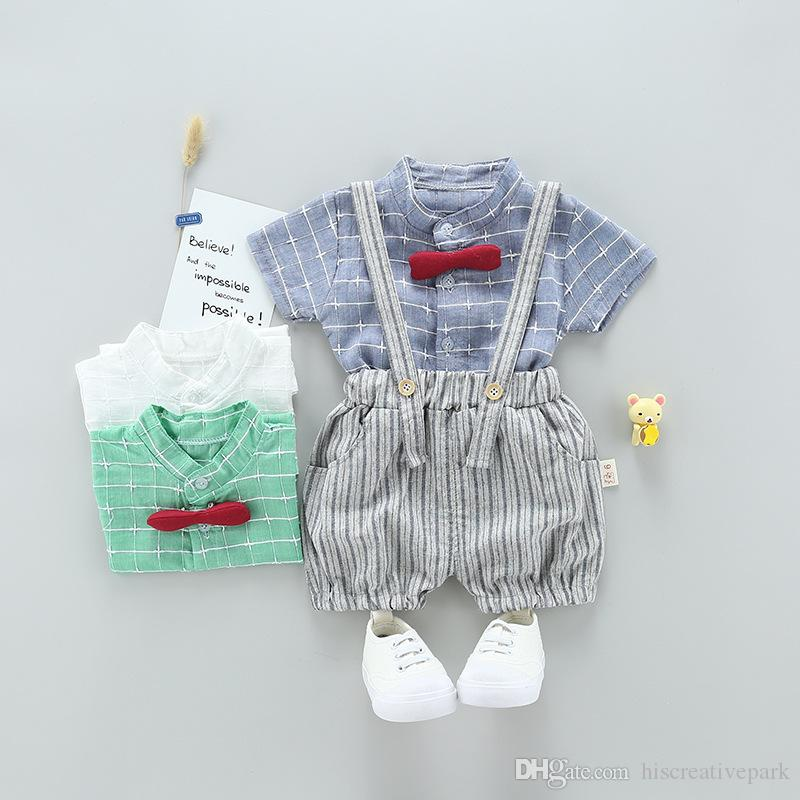9d273ca80f0c Summer Hot Tie Clothing Sets Boy Cotton Casual Children s Wear Baby ...