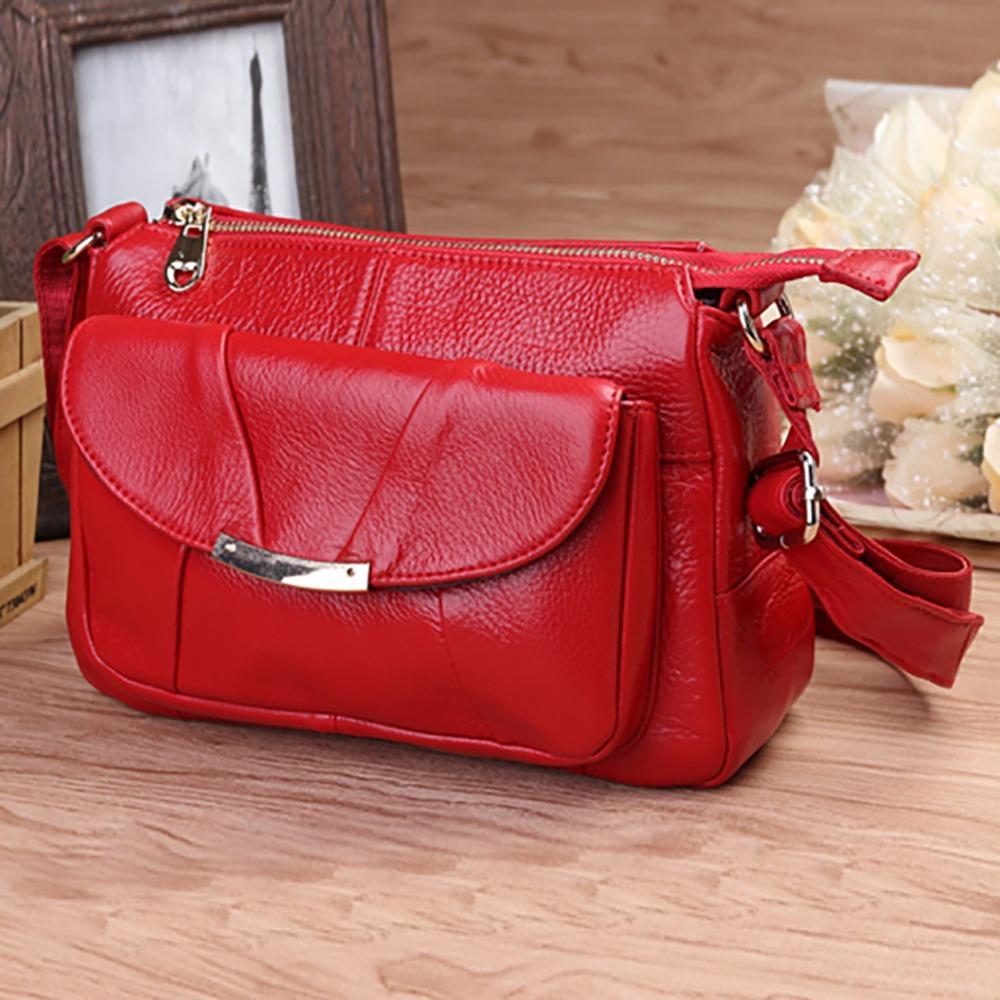 Genuine Leather Cowhide Cross Body Shoulder Bag Fashion Designer Casual  Women Hobo Satchel Famous Brand Ladies Messenger Bags Designer Handbags  Handbag From ... 202be994aef7d