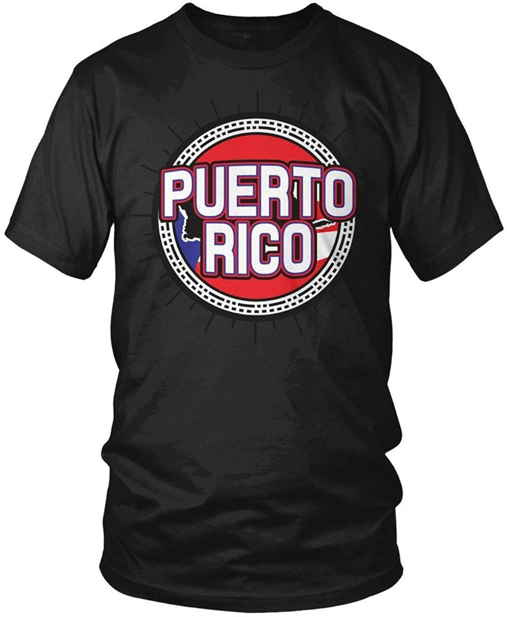 T shirt printing design mens crew neck short sleeve compression puerto rico flag puerto rican flag and country shape tees cool t shirts from shirts4you