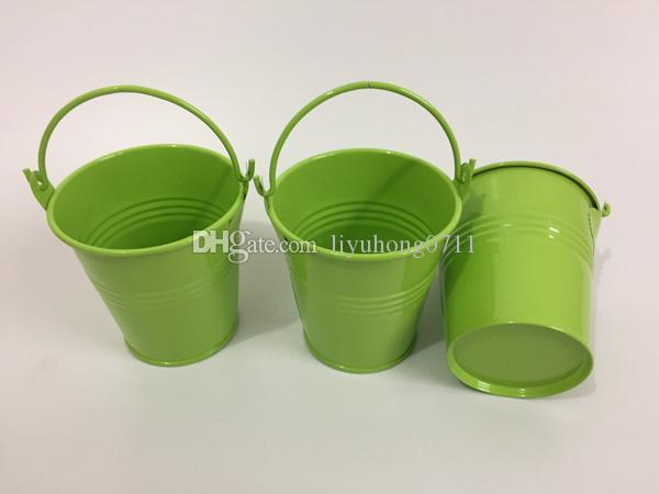 Cute Iron Box Succulents Planter Light Green Easter Egg Pots Party Favor Holder Mini Pails SF-018G