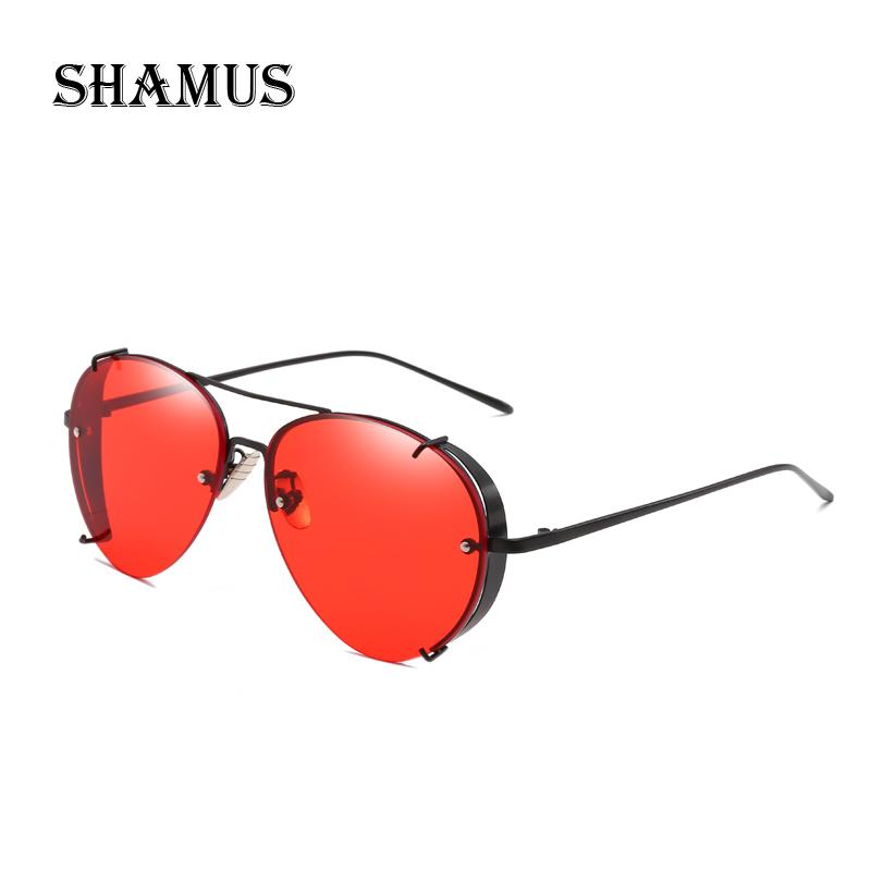 4f22e8611393 SHAMUS Top Fashion Sunglasses Men Pilot Sunglass Metal Frame Eyewear  Classic Women Shades Eyeglasses Sun Glasses Super Sunglasses Victoria  Beckham ...