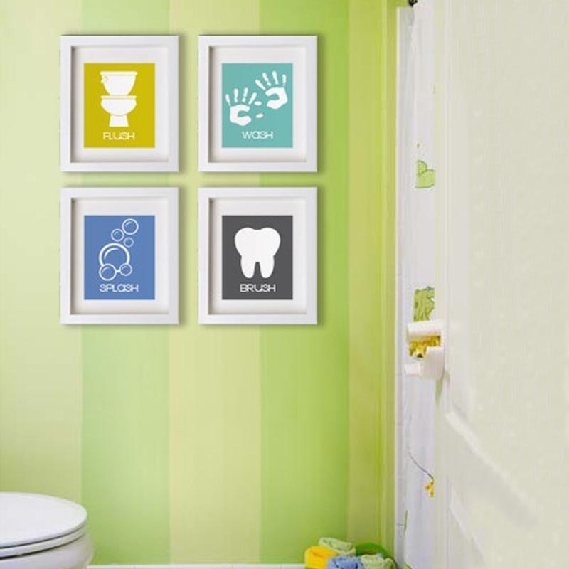Acheter Lzn Bande Dessinee Salle De Bains Symboles Toile Peinture