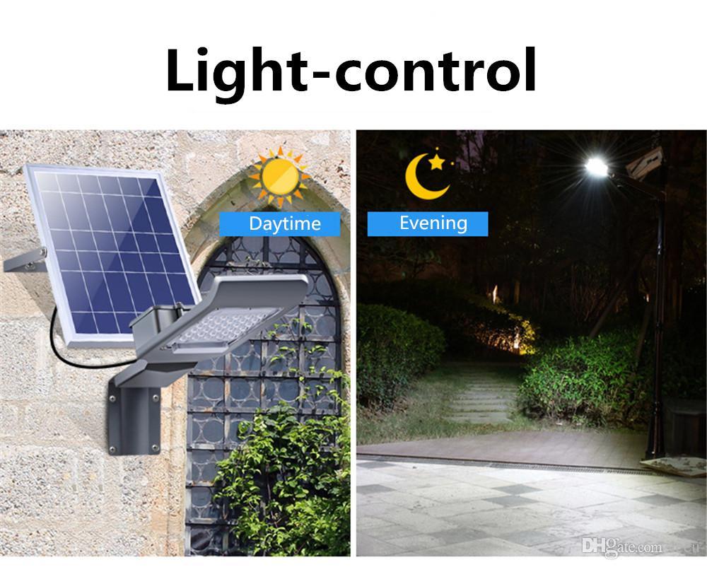 30W SMD3030 Luz solar al aire libre Luz solar para jardín Luz solar solar Para Exterior Jardín Luz solar Control remoto Atenuación para el camino