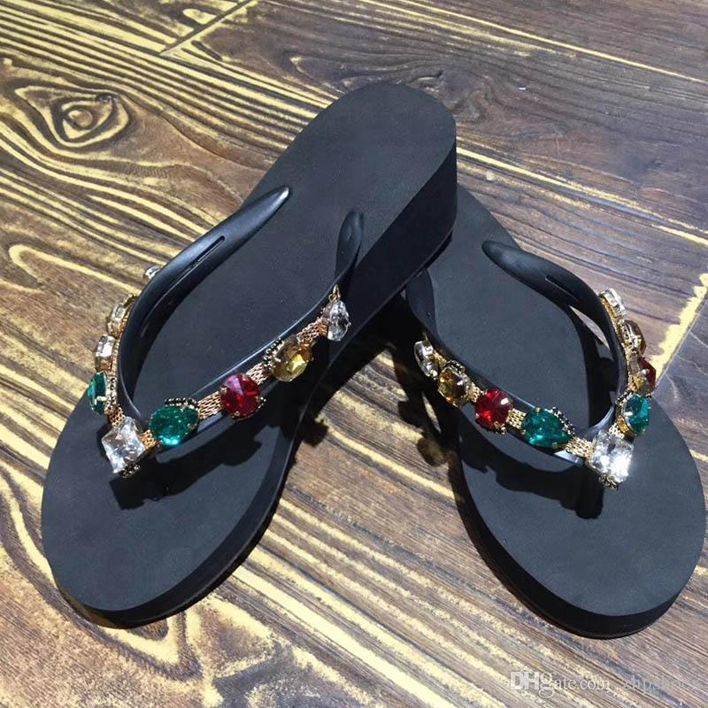 New sandal French Women's high-end slippers ladies leather 2018 fashion Sole leather slippers flat-bottomed high-end women's shoes