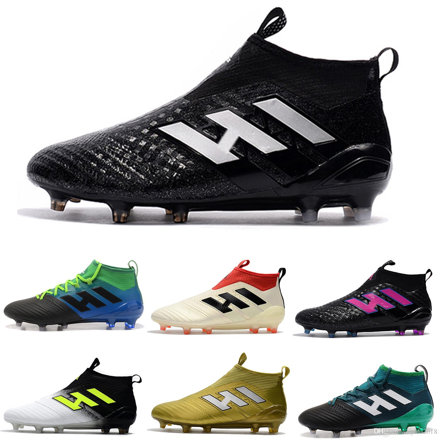 2018 Soccer Cleats Mercurial Superfly Predator 18+x Pogba FG Accelerator DB Soccer Shoes High Ankle Cristiano Ronaldo Mens Football Boots