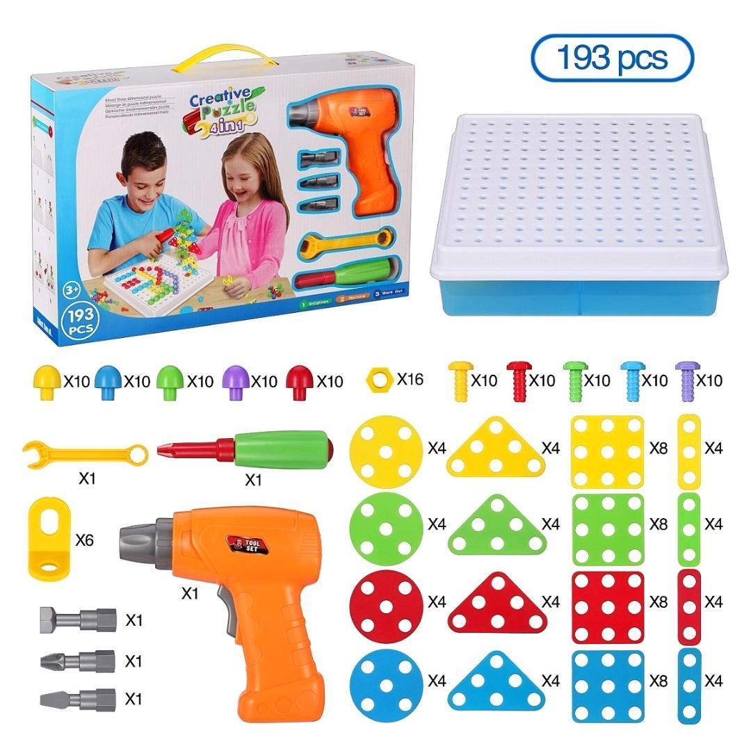 2018 Kids Toys Drill Pretend Play Creative Educational Games Mosaic