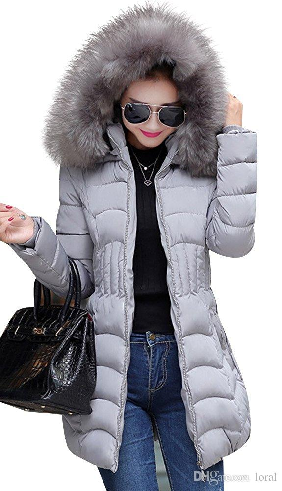 f5b0e9e65 Womens Winter Warm Thickened Coats Long Down Parka Puffer Jacket Outwear  Female Clothing Freeshipping Size L-4XL