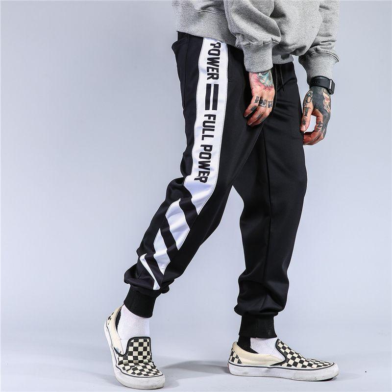 b410ccaef9e97 Compre Hip Hop Streetwear Color Block Patchwork Pantalones De Chándal A  Rayas Hombres Rap Joggers Ocasionales Pantalones Harem Track Pantalones  Hombres A ...