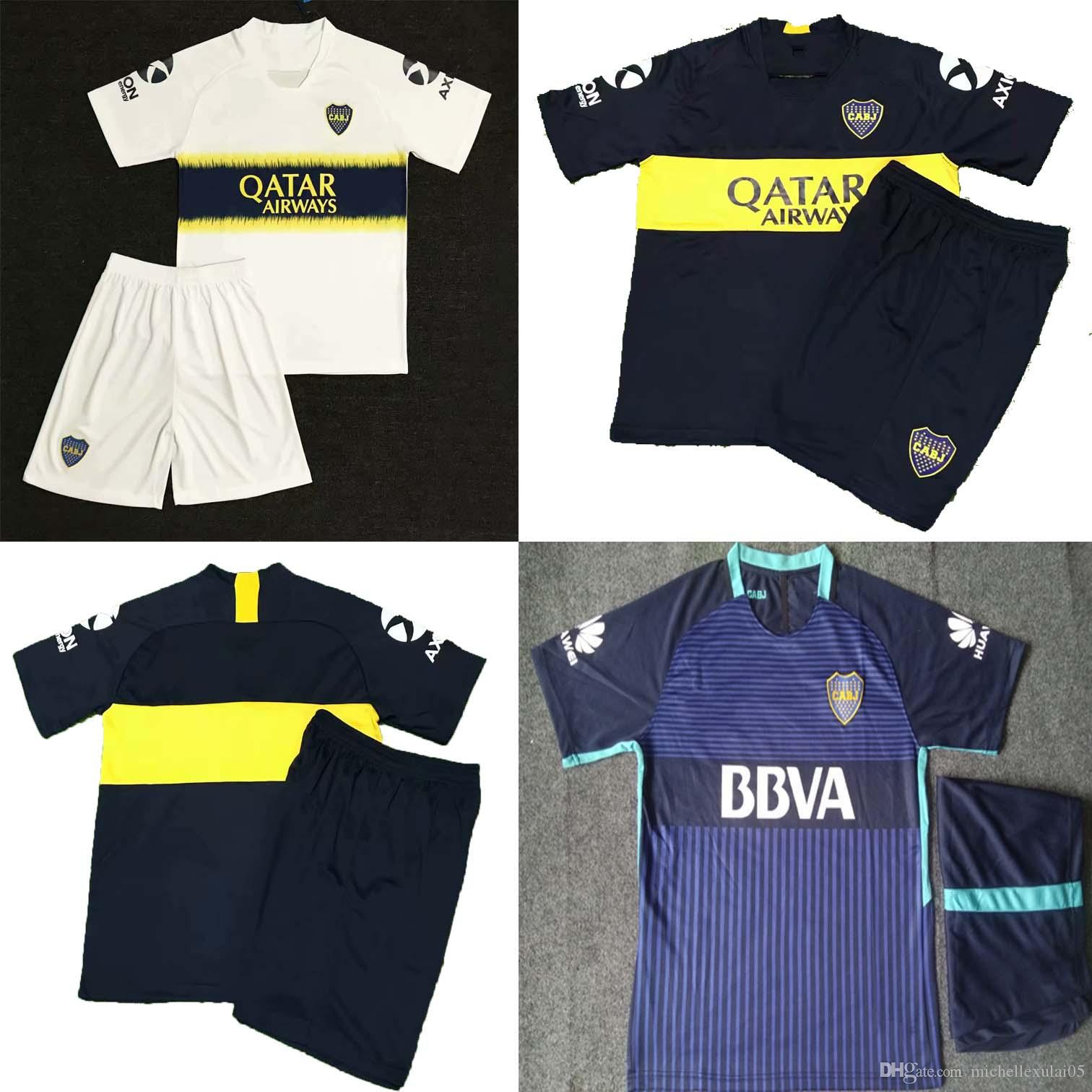 18 19 Boca Juniors Soccer Kits Mens Short Sleeve Thai Quality Football  Jersey And Shorts 2018 19 Boca Soccer Tracksuits Mens Sports Uniforms UK  2019 From ... cd78307458923