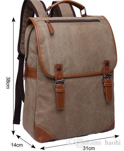 Bolsos de marca mochilas bolsa de lona hombre mujer totalizadores señoras bolsos de hombro viajes al aire libre coreano bolsas para portátiles mochila Bolsos de viaje