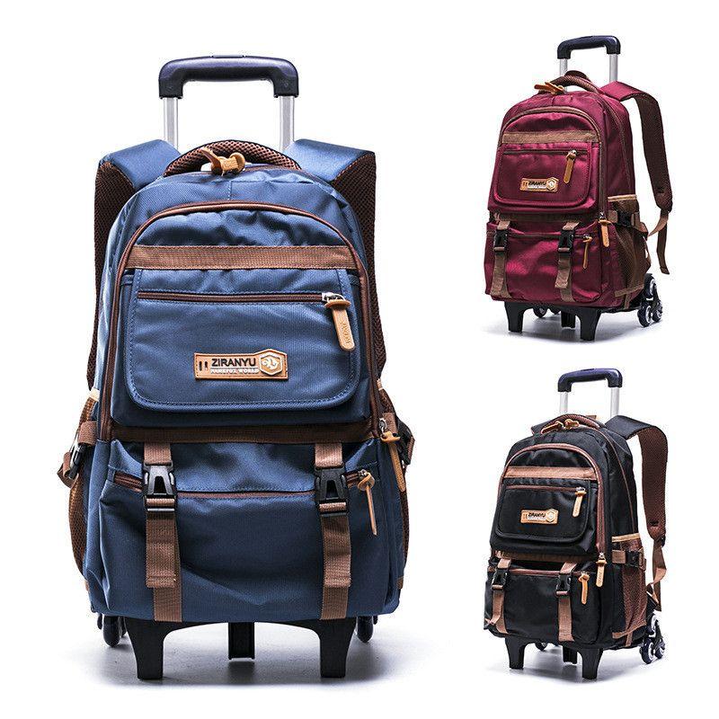 f49bac44ad Removable Children School Bags With 2 3 Wheels Child Climb Stair Trolley  Backpack Kids Wheeled Bags Boys Girls Bookbag Mochilas Waterproof Rucksack  Girls ...