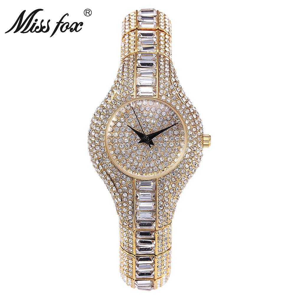 Watches Fashion Ladies Women Girl Unisex Wristwatch Rhinestone Gold Watches Ladies Dress Crystal Stainless Steel Mesh Quartz Watch 30q Latest Technology