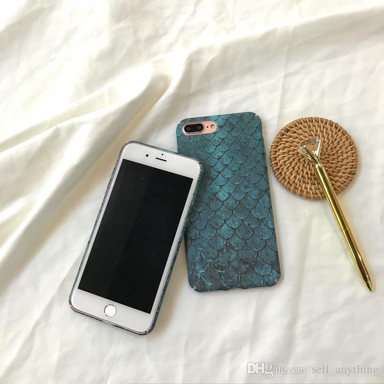 Étuis à poissons sirène bleu Corée du Sud INS même paragraphe cas de téléphone portable pour Iphone 6 7 X Plus