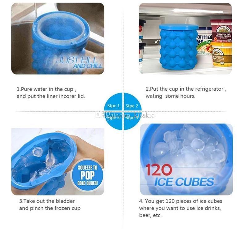 Silicone Ice Cube Maker Genie Das revolutionäre platzsparende Ice Cube Maker Ice Genie Küchenwerkzeug