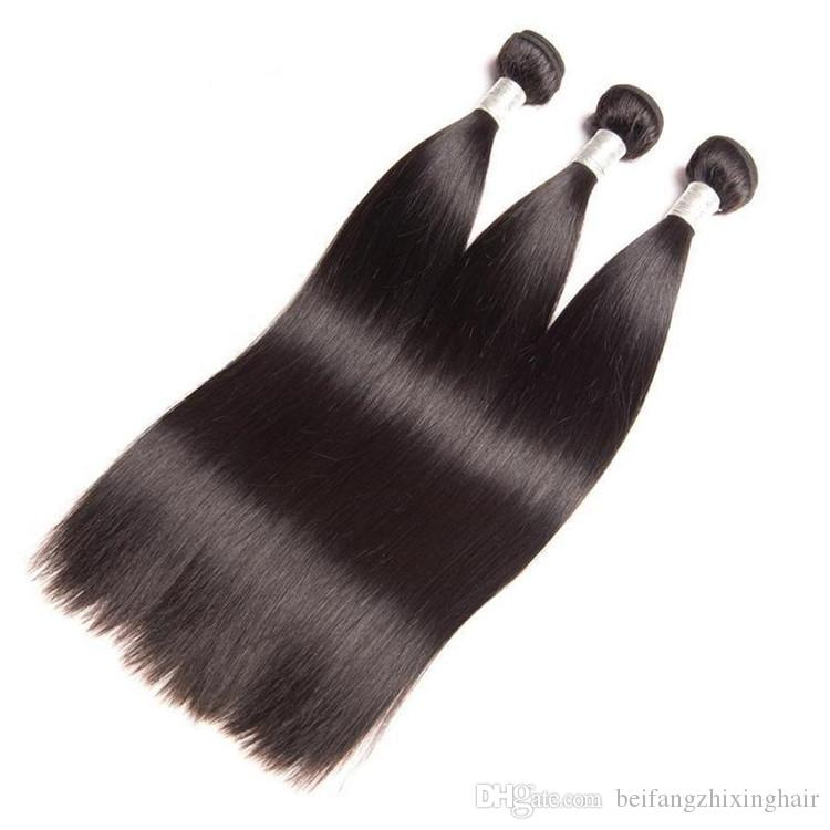 Thick Bottom Human hair weft 95g piece&Silk Straight Wave human Remy hair weave,Natural Color,