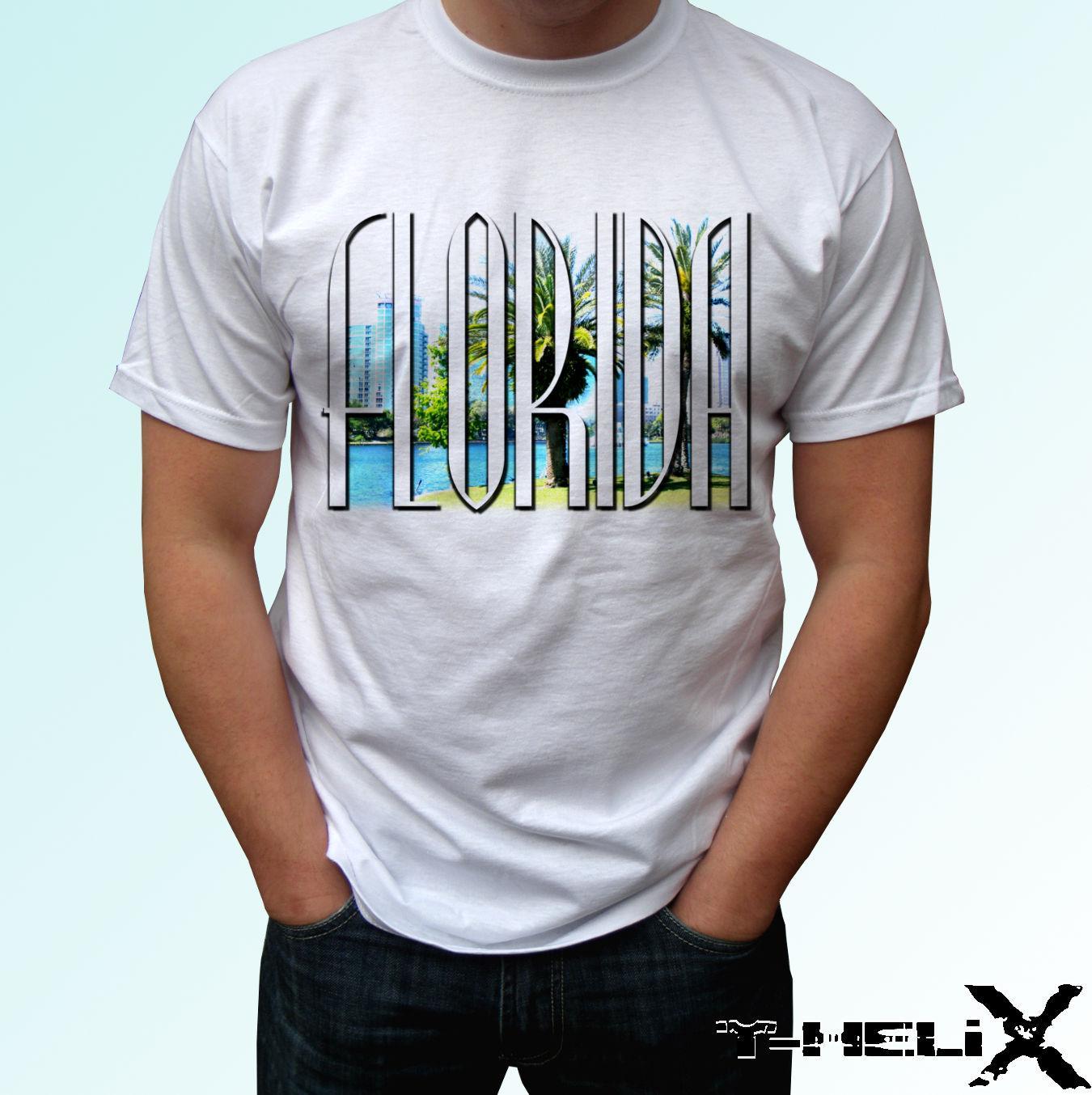 Florida White T Shirt Top Holiday Design Mens Womens Kids Baby