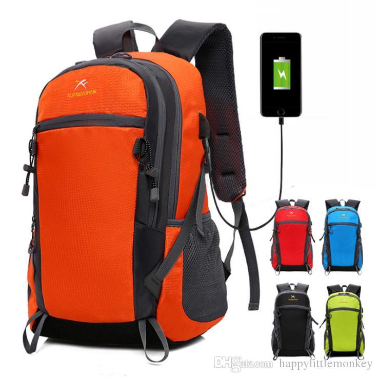 244d462177 2018 New Summer USB Charging Pack Men s Sports Shoulder Bag Men And ...