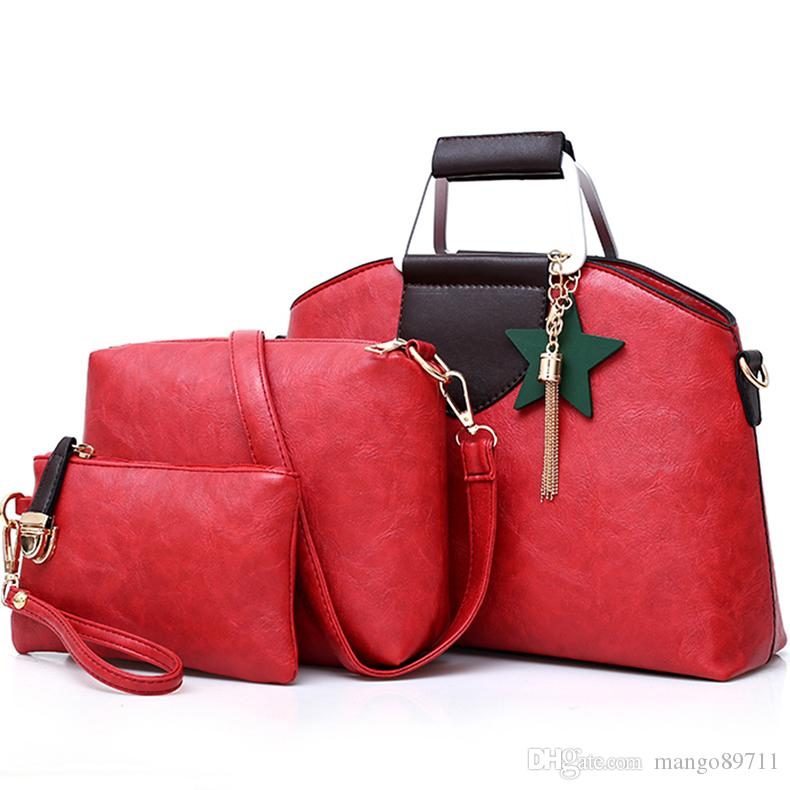 Luxury Tassel Hand Bags Women Composite Set Bag Ladies Shoulder Bags Female  Handbag Purse Wallets Women Clutch Bag Designer Handbags On Sale Black  Handbag ... 45919a9eb45a4