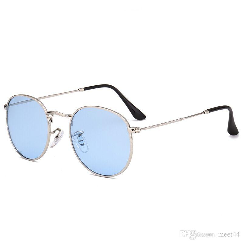 c4ba4aba85 2018 Six-color Marine Sunglasses Metal Lenses Fashion Simple ...