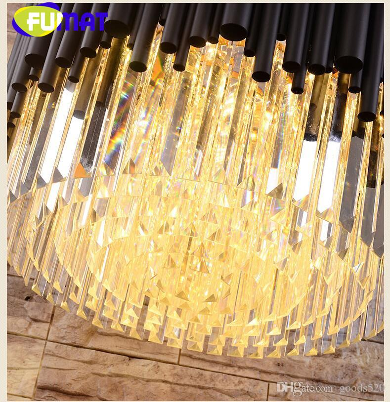 New Luxurious modern LED crystal lights stainless steel simple atmosphere art Nordic light villa restaurant crystal lamp