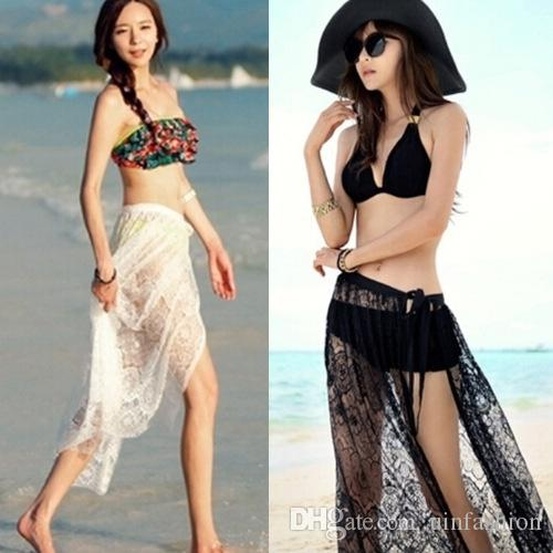 f2536e1d6c861 2019 Women Sexy Chiffon Wrap Dress Sarong Pareo Beach Bikini Swimwear Cover  Up Scarf Summer Beachwear Long Beach Dress Tunic Beach Skirt From  Uinfashion