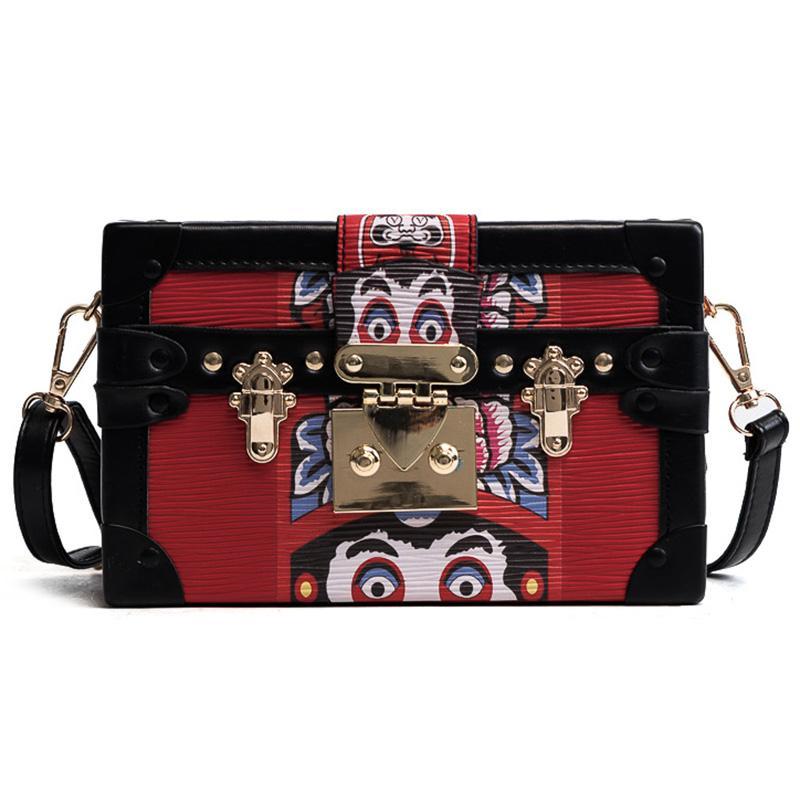 Ins Super Fire Mini Box Bag Female Retro Small Square Bag Hit Color ... 445bfb775d1ca