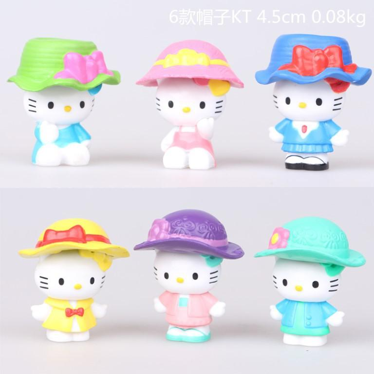 2019 Cute Hello Kitty With Hat Doll A Set Cake Decoration Anime