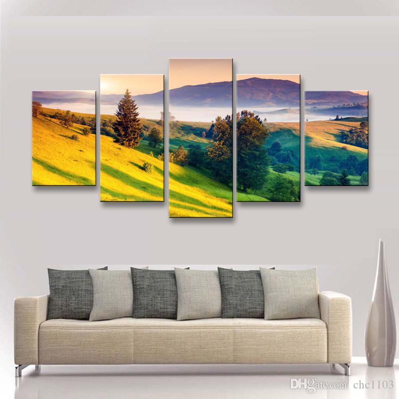 high-definition print landscape canvas painting poster and wall art living room picture PL5-241