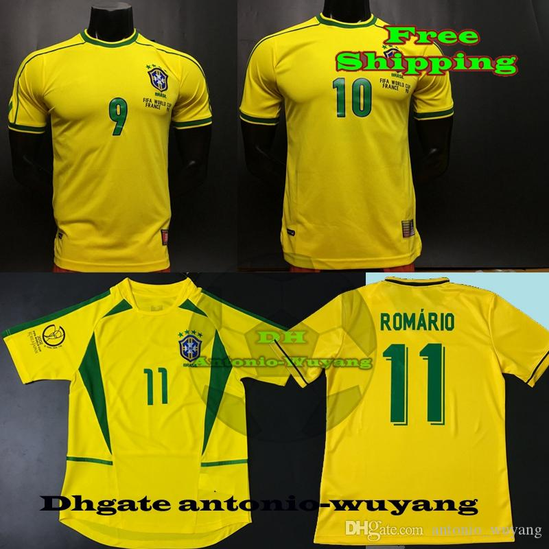 6487ee922 ... amazon 2018 1994 brasil world 1998 national 2002 brazil retro  ronaldinho romario ronaldo rivaldo adult home