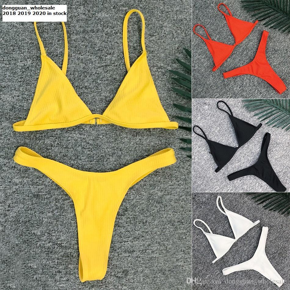 4119bd6c4a 2019 Sexy Brazilian Bikini Swimwear Women Swimsuit 2018 New Bikinis Women  Beach Wear Biquini Bathing Suit Textured Swimwear Female From  Dongguan wholesale